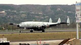 Lockheed EC-121 Super Constellation Departing Camarillo 1/14/12 thumbnail