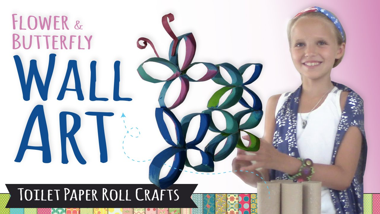 How to Make Wall Art using Toilet Paper Rolls | DIY Room ...