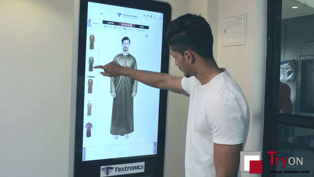 Virtual Dressing Room By Textronics For Mens Youtube