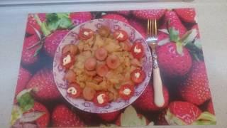 Солянка с сосисками в мультиварке