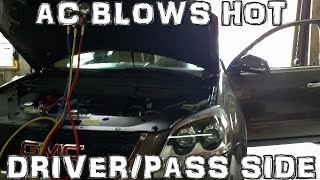 AC Blows Hot on Driver Side Air Vents 10 GMC Acadia (HD)