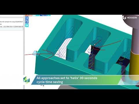 Roughing Cycle Minimum Helix control | EDGECAM 2022.0