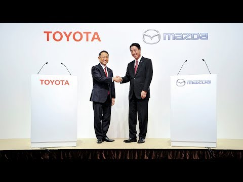 Toyota and Mazda Joint Press Conference - Business and Capital Alliance