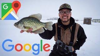 Google Maps Ice Fishing Challenge! (SURPRISE CATCH)