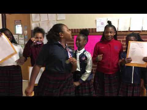 Estrellita  with her best friends earned a medal ????  at Chattanooga charter school of excellence