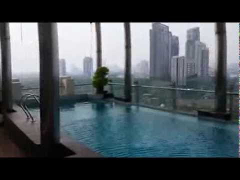 Penthouse For Sale in Jakarta @ Nirvana Residence in Kemang, 586sqm, 2 levels, private rooftop pool.