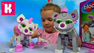 Кошка и котёнок из мягкого конструктора Bloco / Обзор игрушки