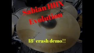 sabian hhx evolution 18 crash sound demo