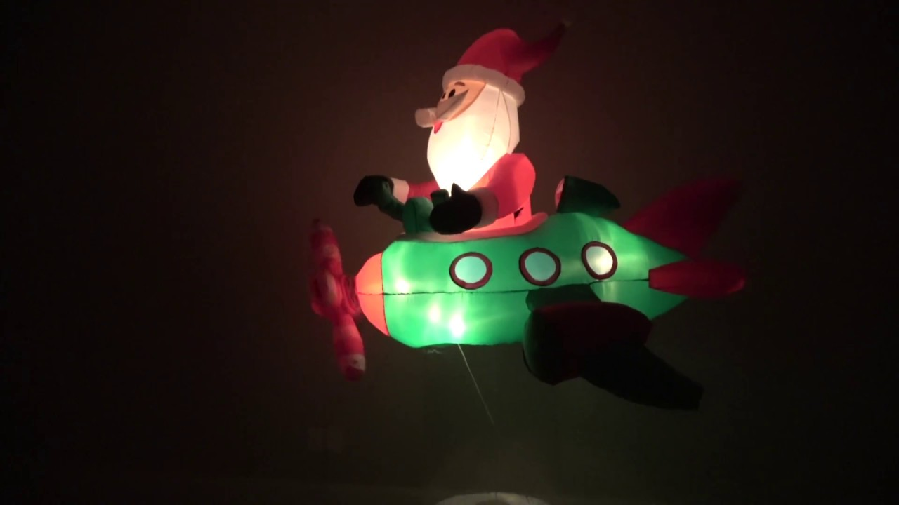 Gemmy Christmas Prototype Airblown Inflatable Animated Santa In Helicopter Youtube