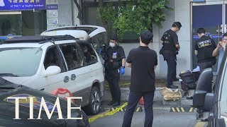 A South Korean Man Died After Setting Himself On Fire Outside The Japanese Embassy | TIME