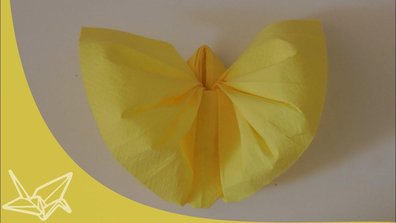 Napkin Butterfly Instructions - YouTube - photo#11