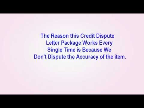 Credit Report Dispute Letters - Why These Credit Report Dispute