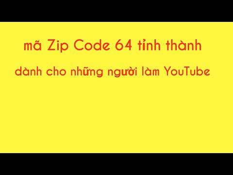 Mã Zip code 64 tỉnh thành