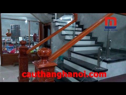 Cầu thang kính - Cầu thang kính sử dụng trụ lửng thi công và lắp đặt tại Bắc Ninh
