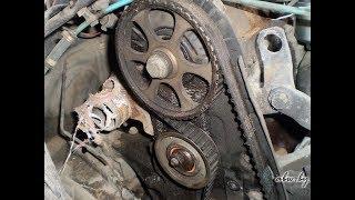 Замена ремня ГРМ и помпы VW Passat B3 (1.8) (двигатель PF)