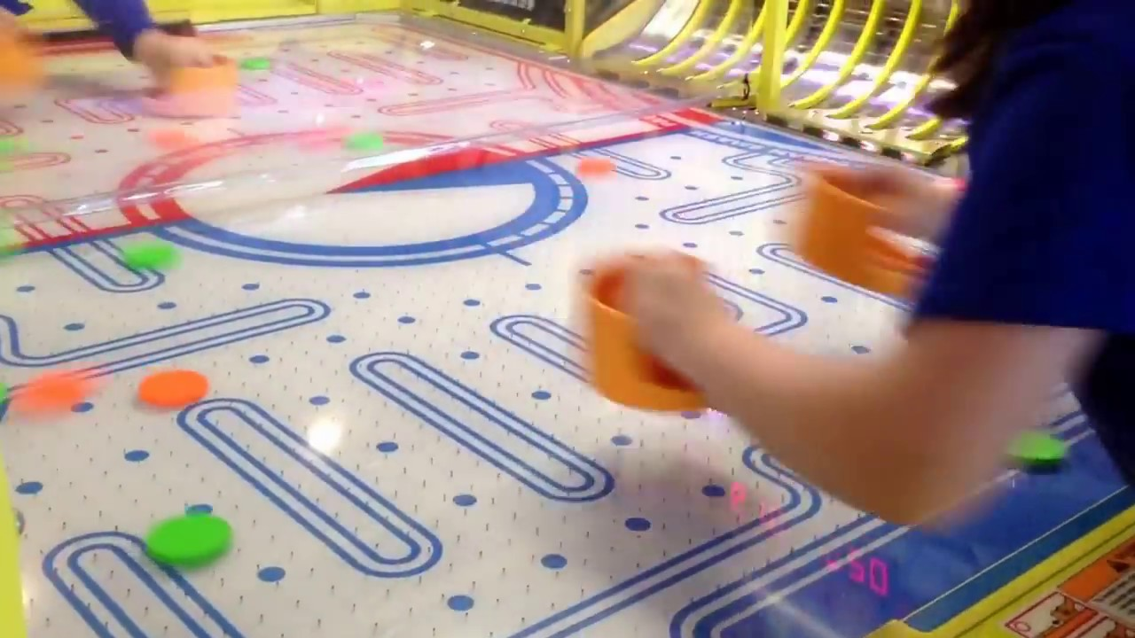 Craziest Air Hockey Table EVER!!!! I Was Hit And I Wasnu0027t Even Playing!  *EPIC!*