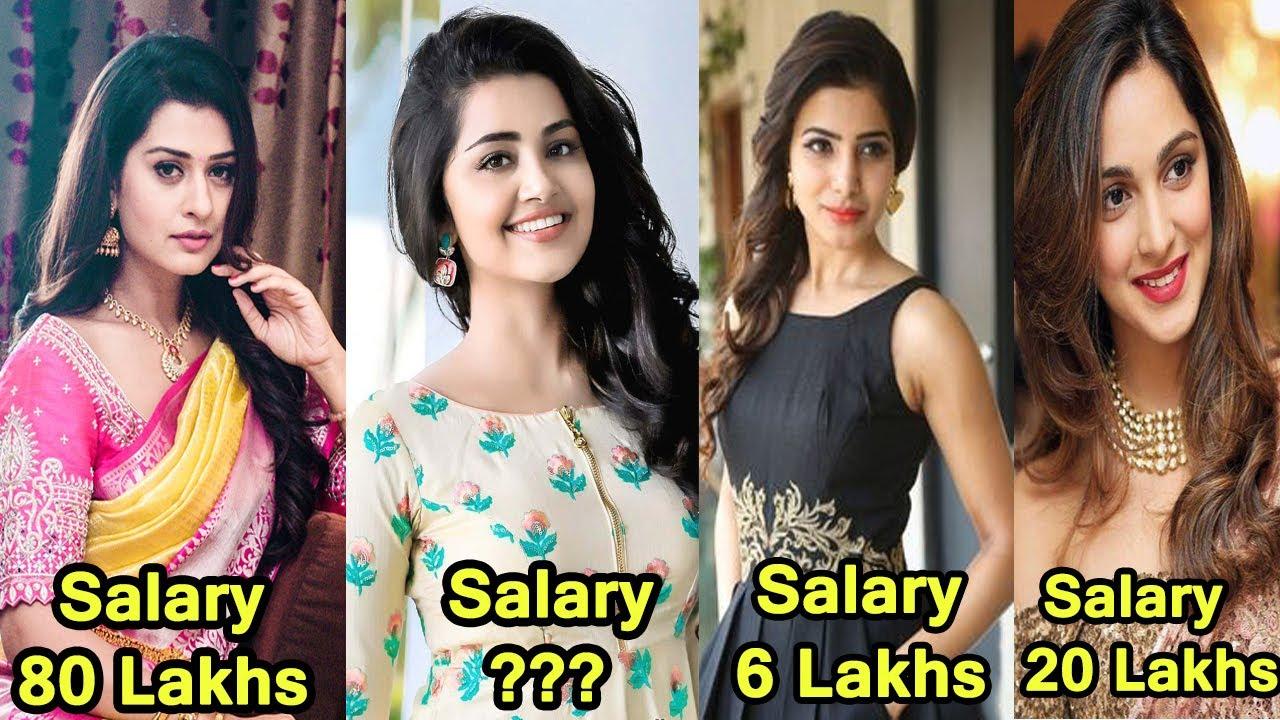 Tollywood Telugu Heroine Actress Salary Per Movie ...