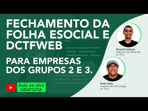 Aula ao vivo gratuita: Fechamento da folha eSocial e DCTFWEB para empresas dos grupos 2 e 3