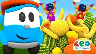 Leo el Camión - Carritos aprenden las frutas en español (2019)