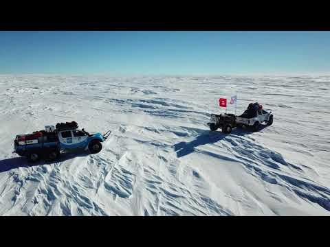 Crossing Antarctica From Ross Iceshelf To Ronne Iceshelf