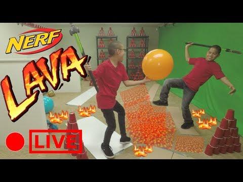 The Floor Is Lava Challenge Nerf Zombie Strike Hockey Edition