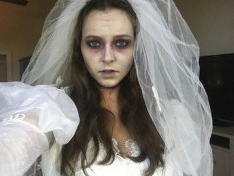 zombie bride last minute halloween tutorial youtube