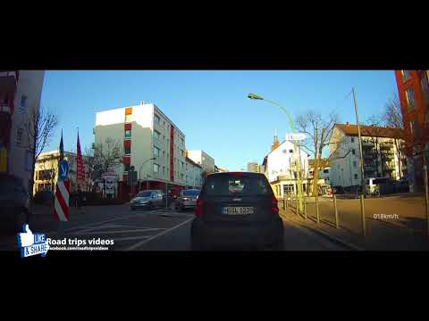 driving in Frankfurt am Main / February 2018 / Road trip