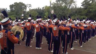 Clemson University marching band Winter Park, Florida. Russell Athletic Bowl 2014.