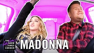 Madonna Carpool Karaoke(James and Madonna go for a drive through New York City singing classics from her epic catalog of music, and James learns about Madonna's relationship with ..., 2016-12-08T06:42:07.000Z)