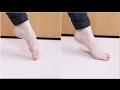バレエ タンデュ:指の付け根を床から離してつま先を伸ばし切る