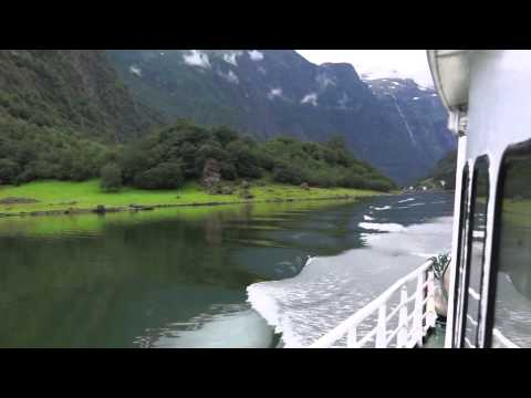 Fjord cruise from Gudvangen, Norway to Flåm, Norway