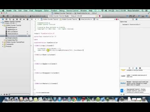 Xcode 5 - Hidden Counter | Tutorial