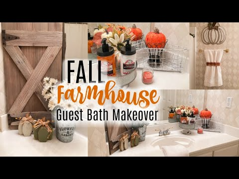 FALL DECORATE WITH ME | GUEST BATHROOM MAKEOVER 2019