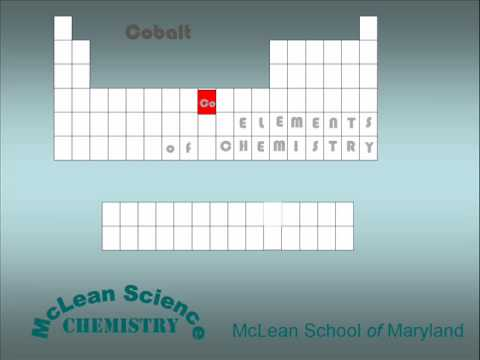 McLean Science Chemistry ELEMENT cobalt.wmv