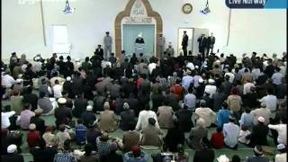 KHUTBA JUMA FROM NORWAY NEW MOSQUE 30-9-2011 PERSENTING KHALID QADIANI_clip0.flv