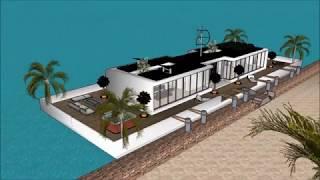 Smart Floating house Dubai sea horse design luxury mansion UAE in Miami UNITED ARAB EMIRATES  in Uni