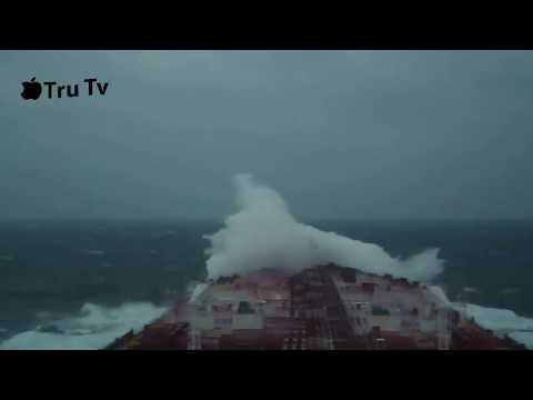 Big Tanker Ship in Extreme Storm Near TAIWAN With Heavy Winds  [new 2019]
