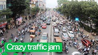 Insane Traffic Jams on Road in Ha Noi 😮😮😮