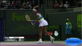 In HD: Serena Williams vs.Agnieszka Radwanska-Semi Final @ Sony Open 2013-Highlights