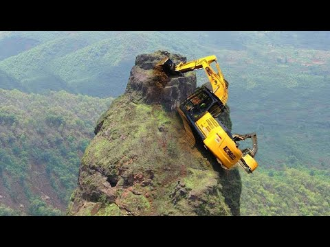 10 Extreme Dangerous Idiots Excavator Operator Skill - Fastest Climbing Excavator Machines Driving