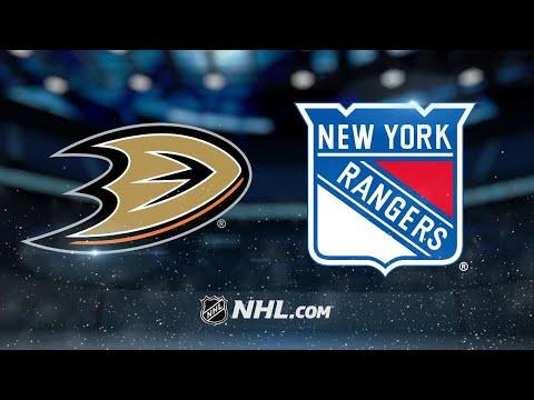 Lundqvist dominant as Rangers top Ducks, 4-1