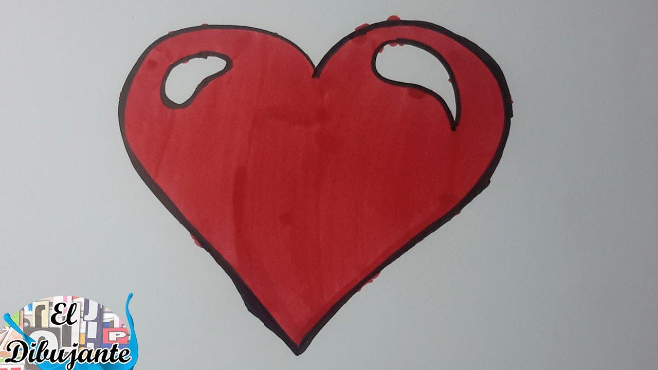 Como dibujar un coraz n paso a paso el dibujante youtube - Como hacer un corazon con fotos ...