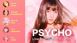 Download Red Velvet - Psycho (Line Distribution / Color Coded Lyrics Han/Rom/Eng)