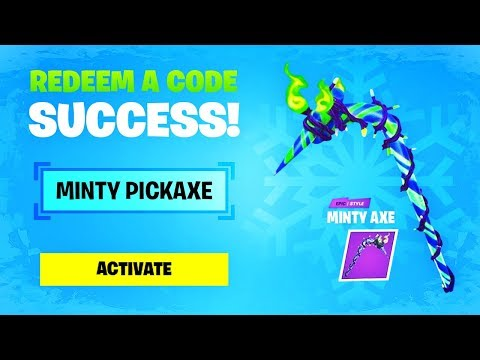 CLAIMING THE FREE PICKAXE CODE In Fortnite! (FREE CODE)
