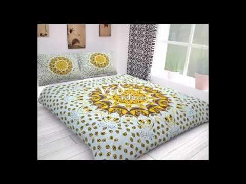 mandala-duvet-covers- -indian-style-duvet-cover- -hippie-bohemian-bedding-set