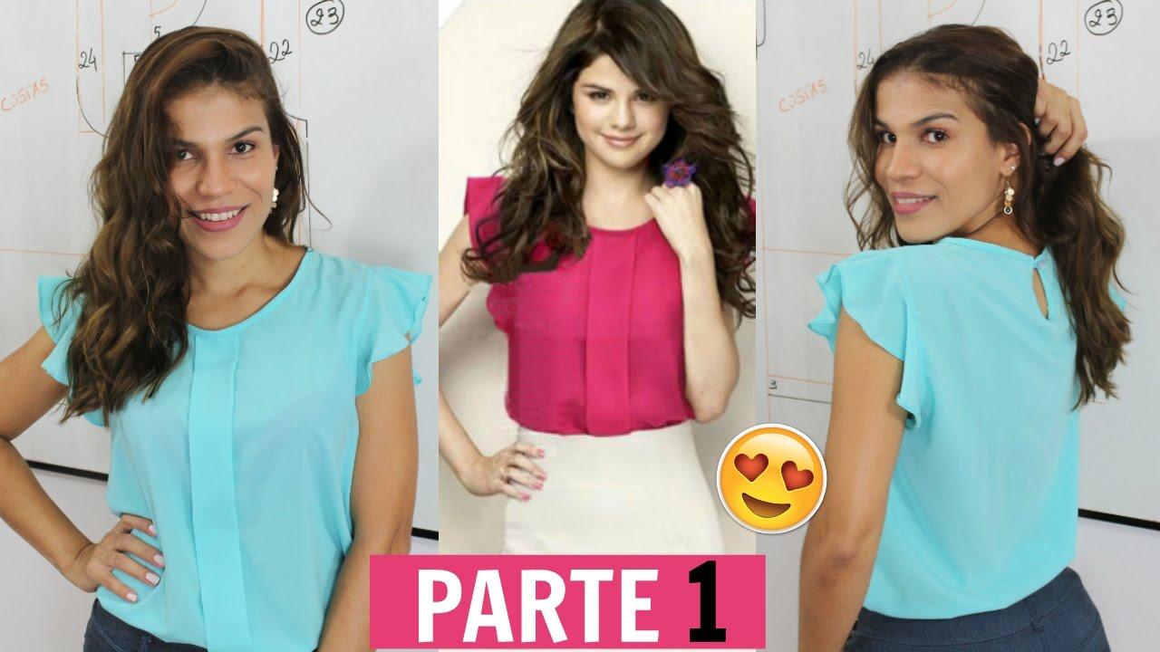 959282f4fd Como fazer blusa com prega e babado nas mangas de Selena Gomez ...
