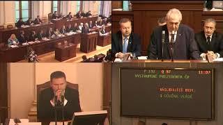 PS 100118 - Důvěra vládě 1. část - prezident ČR Miloš Zeman