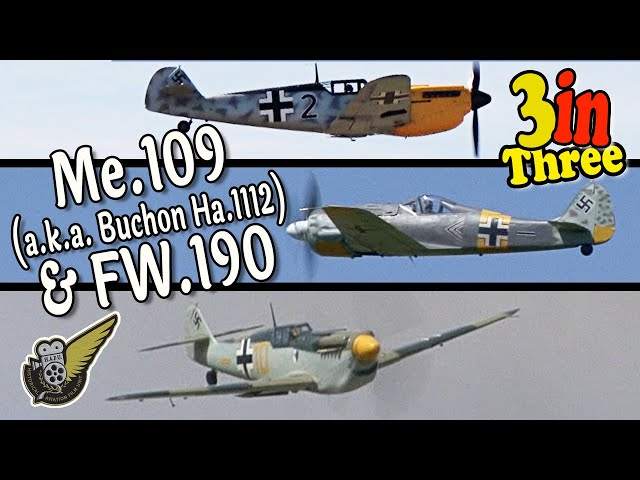 The WW2 Luftwaffe's Finest Fighters - Low & Loud