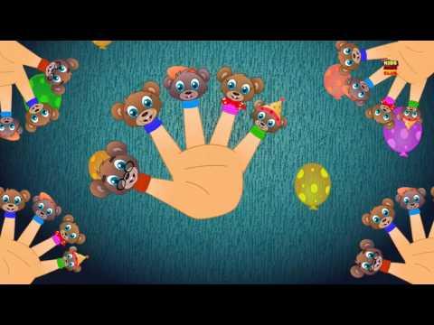 Teddy finger familie | deutsche Reime | Kinderlieder | Preschool Song | Teddy Bear Finger Family
