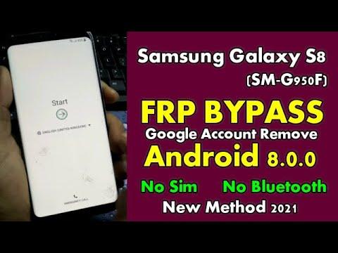 SAMSUNG GALAXY S8 FRP Google Account locked Android 8.0 NO SIM || NO Bluetooth